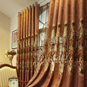 De luxe turc broderie rideaux pour le salon rideaux et tissus