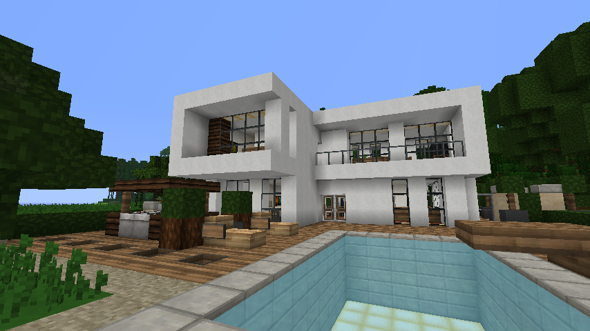 modern house minecraft - Simple Modern House Minecraft