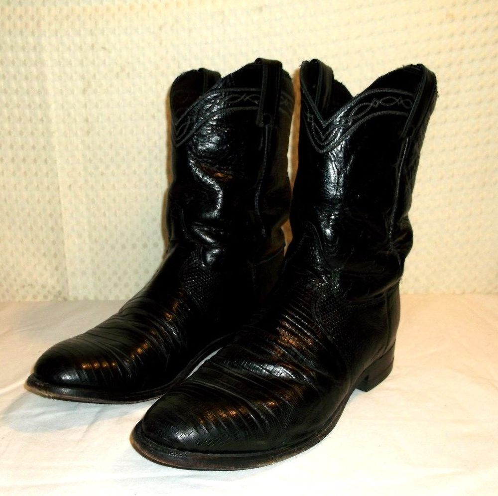 5ee0dacc2b6 Details about Justin Style 3133 Roper Mens Black Leather Cowboy Work ...