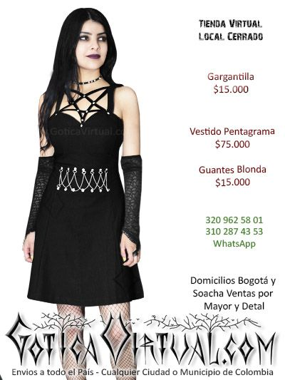 e4e76ccec Vestido Pentagrama Vestido Gótico