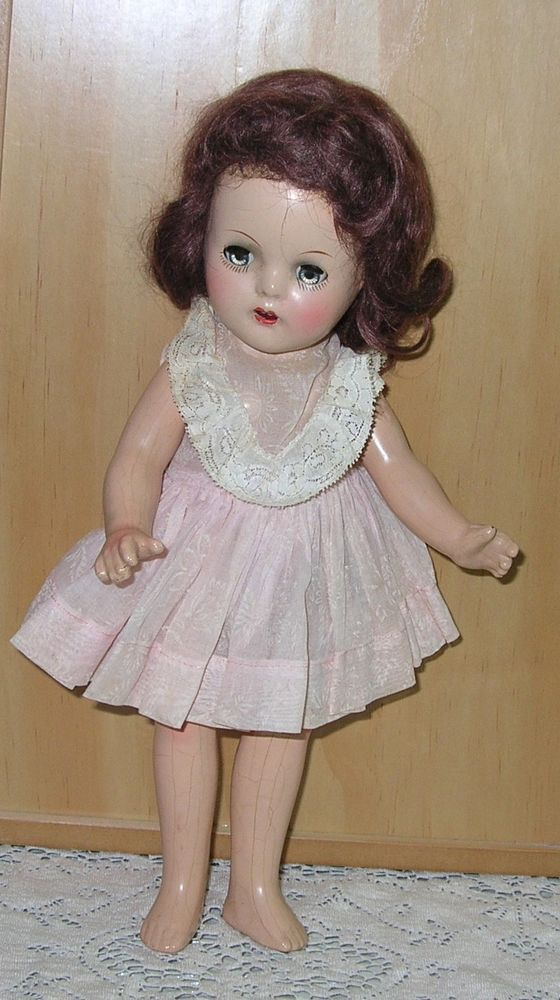 """Vintage 13"""" Vogue  """"Mary Jane"""" Doll  All composition, Compo 1940s"""