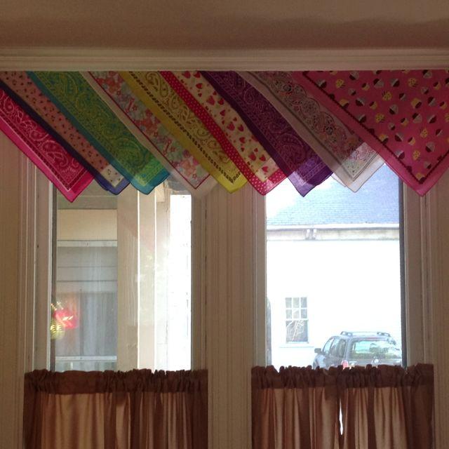 curtain valances made from bandanas