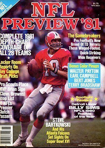 Nfl Preview 81 Steve Bartkowski Cover Nfl School Football Depth Chart