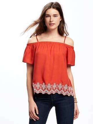 Off-the-Shoulder Swing Blouse for Women  | Old Navy