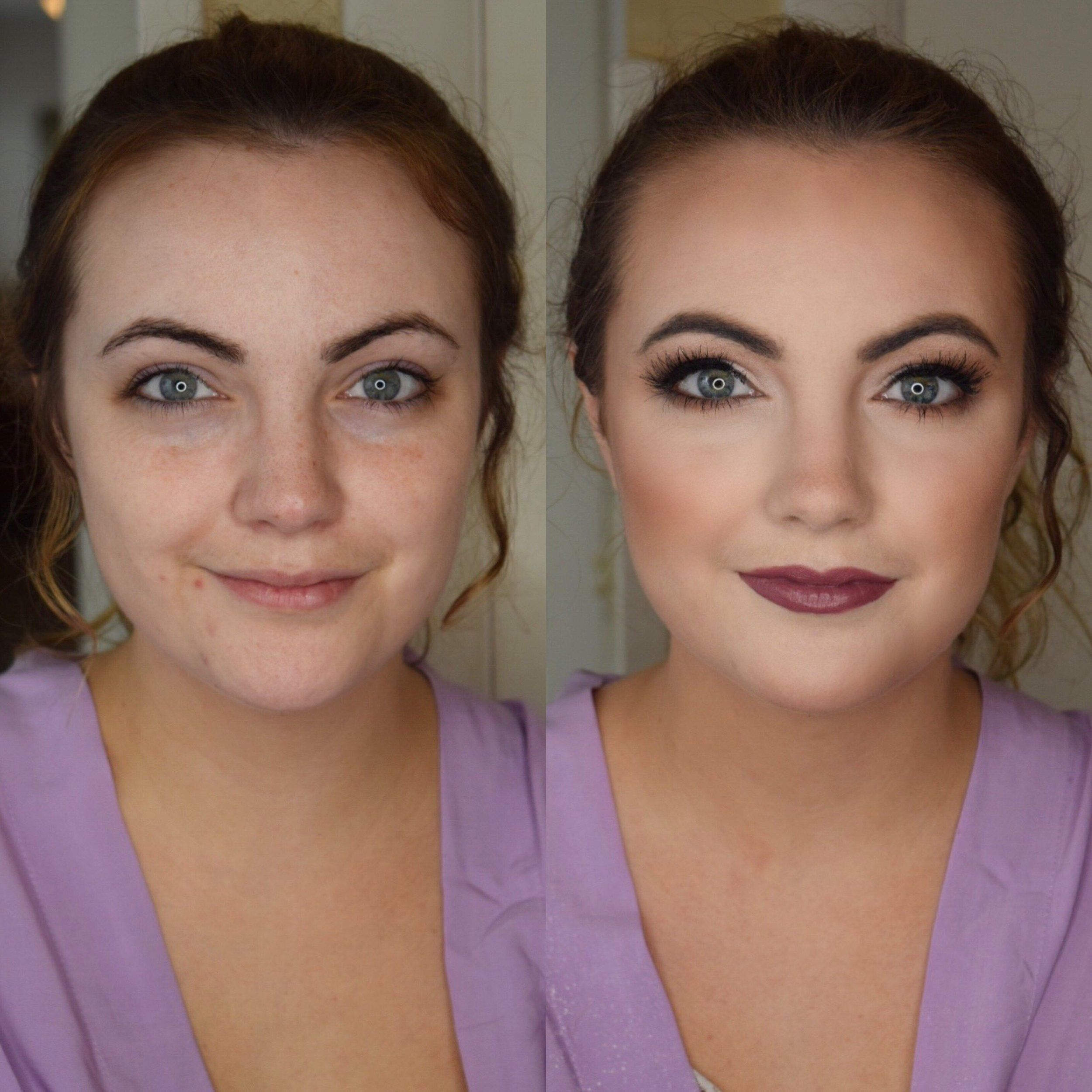 Before And After Pittsburgh Makeup Artist And Hair Stylist Bride Makeup Bridesmaid Makeup Hair Stylist