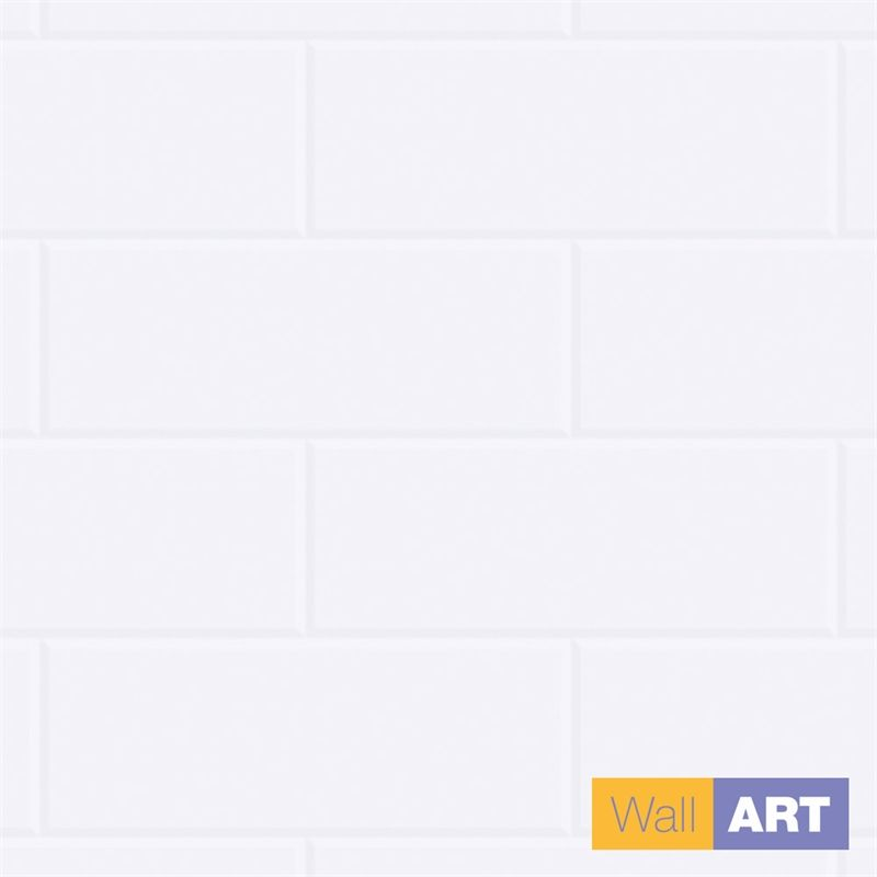 Find Wall Art 2400 X 1200 X 3mm New York White Tile Wet Area Wall Panel At Bunnings Warehouse Visit You Wall Paneling Small Bathroom Inspiration Shower Panels