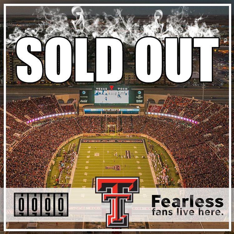 Season Tickets Are Sold Out Texas Tech Red Raiders Football Texas Tech Game Texas Tech