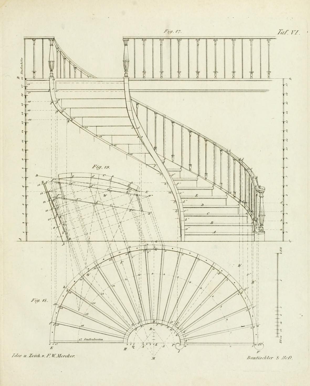 Die Mappe Des Bautischlers Oder Ideen Zu Thorwegen Hausthuren Doppelthuren Vorsetzern Stubenthuren Gewo Stairs Architecture Spiral Stairs Stairs Design