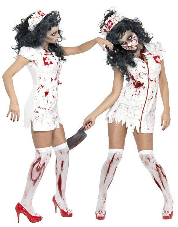 New Bloody Zombie Couples Horror Fancy Dress Halloween Costume Doctor Nurse UK