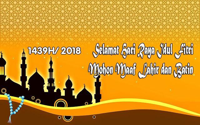 Ucapan Selamat Hari Raya Idul Fitri Tahun 2018 Kartu Lebaran