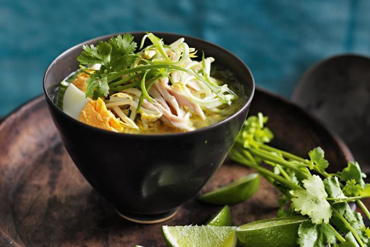 Soto Ayam Indonesian Chicken Noodle Soup Recipe Healthy Chicken Recipes Soup Recipes Chicken Noodle Soup Recipes