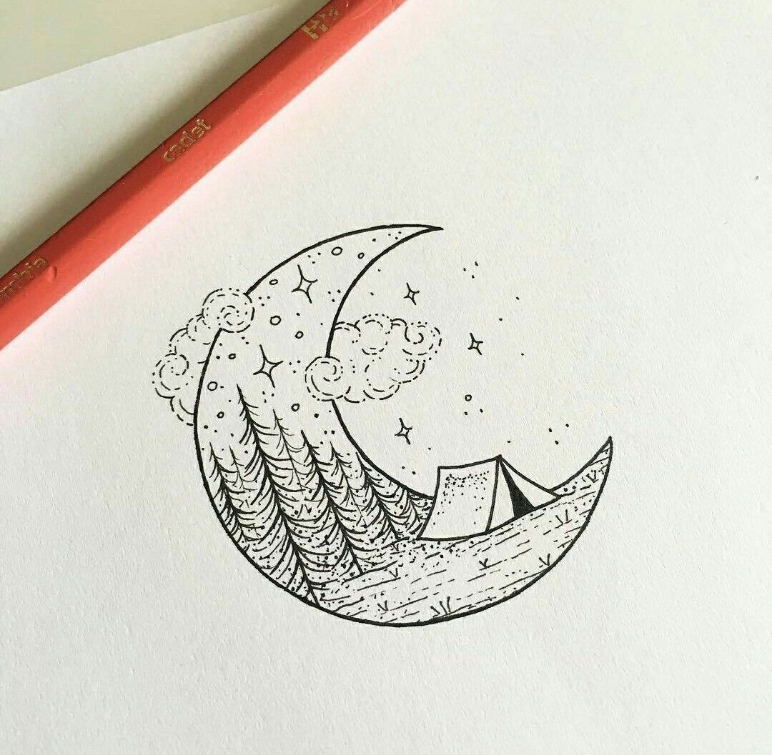 Pin by Leeann Brannock on crafts   Sketch book, Moon ...