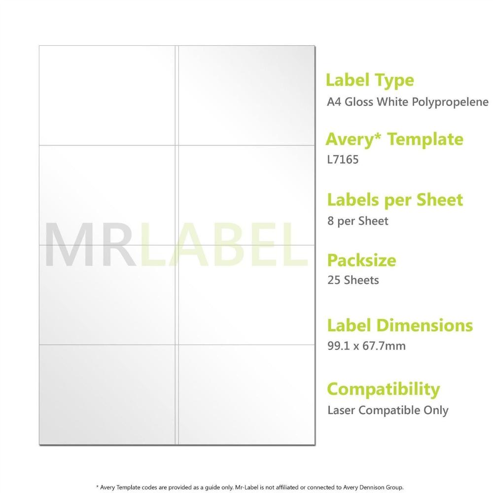 A Gloss White Pp Labels Per Sheet Sheets Laser Regarding Template For Labels 8 Per Sheet 10 Professional Label Templates Avery Labels Avery Label Templates