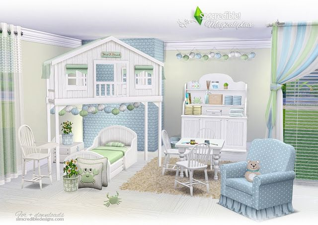 Sims 4 CC's The Best Toddler Rooms by SIMcredible