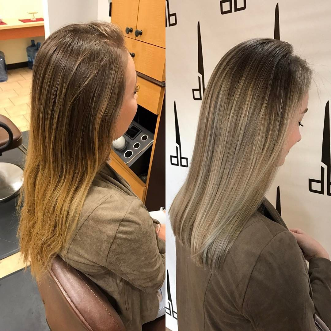 """26 Likes, 5 Comments - Sarah Mathews (@sarahgmathews) on Instagram: """"Right side view. (left=before, right=after) #iamgoldwell color, styled with #arrojonyc product.…"""""""