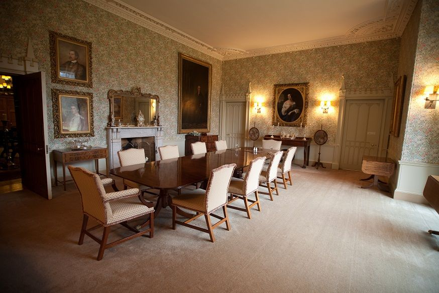 Dine With Elegance In This Grand Dining Room Of Guthrie Castle, Scotland.
