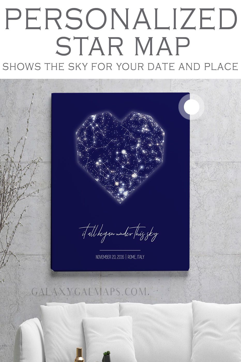 Your Custom Star Map For That Special Date Wedding Anniversary