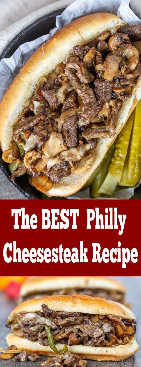 The BEST and Easiest recipe for Philly Cheesesteak! One