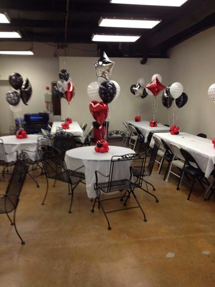 red white and black graduation party balloon decor graduation decorations black balloons. Black Bedroom Furniture Sets. Home Design Ideas