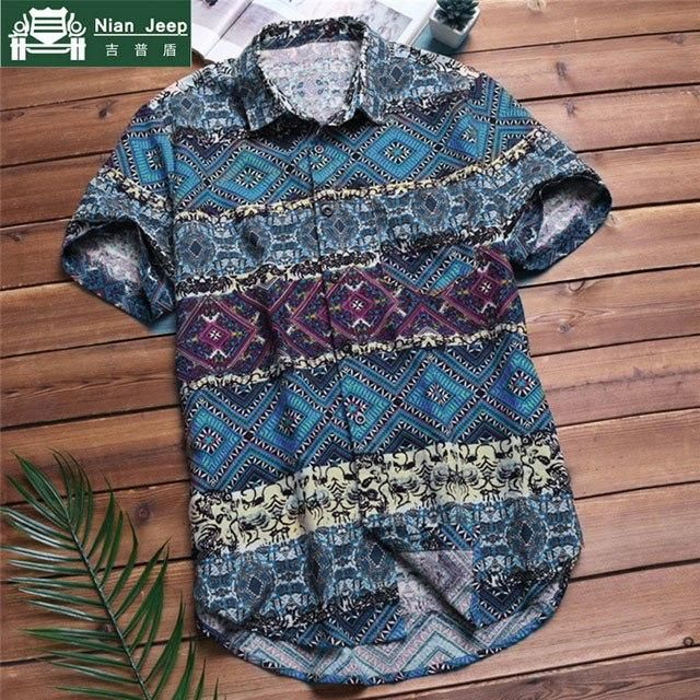 59dc5508b9cd 2018 Fashion Hawaiian Shirt Men Summer Beach Mens Short Sleeve Shirts Brand  Button Loose Casual Big Size L-5XL Camisa Masculina