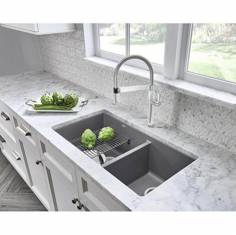 Precis 33 Quot L X 18 Quot W Undermount Kitchen Sink Kitchens Kitchensink Kitchen Remodel Countertops Undermount Kitchen Sinks Best Kitchen Sinks