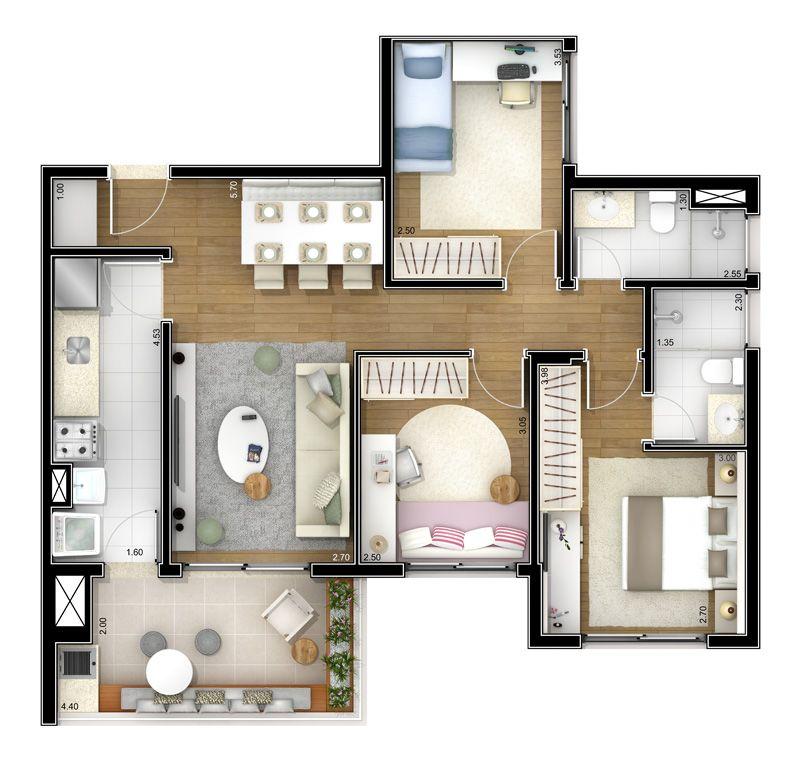 Apartamento de 40 mts quadrados pesquisa google casa for Decoracion apartamento 100 metros