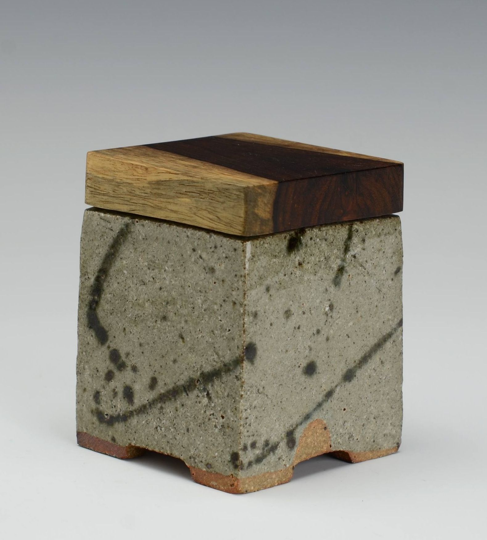 Box By David Wright With Wooden Lid Ceramic Boxes Clay Pottery Ceramic Jars
