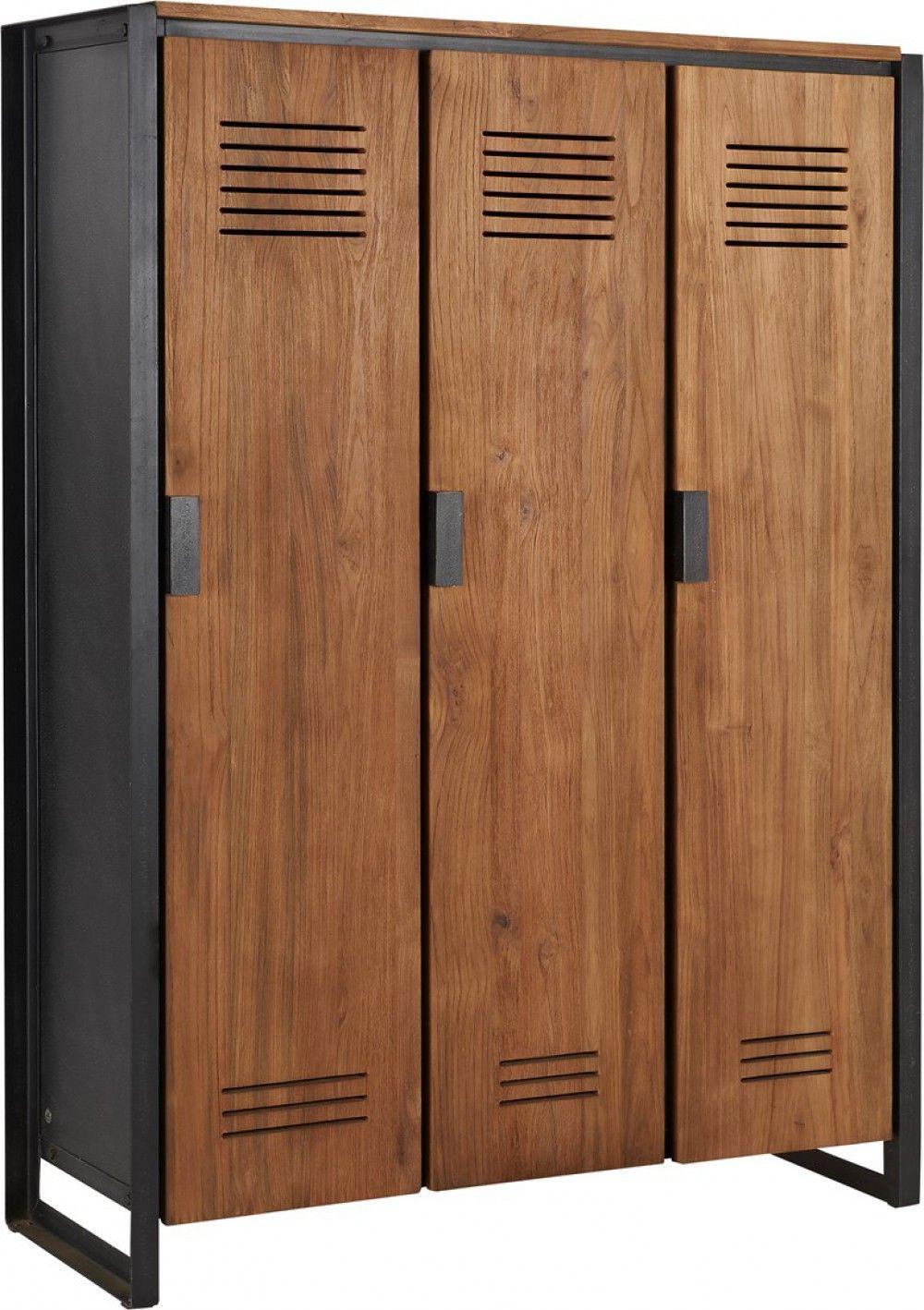 Schrank Industriedesign Kleiderschrank Metall Und Holz Breite