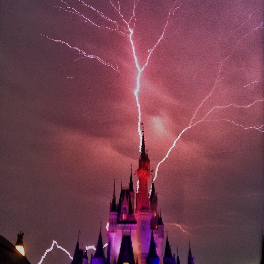 Disney World lightening storm