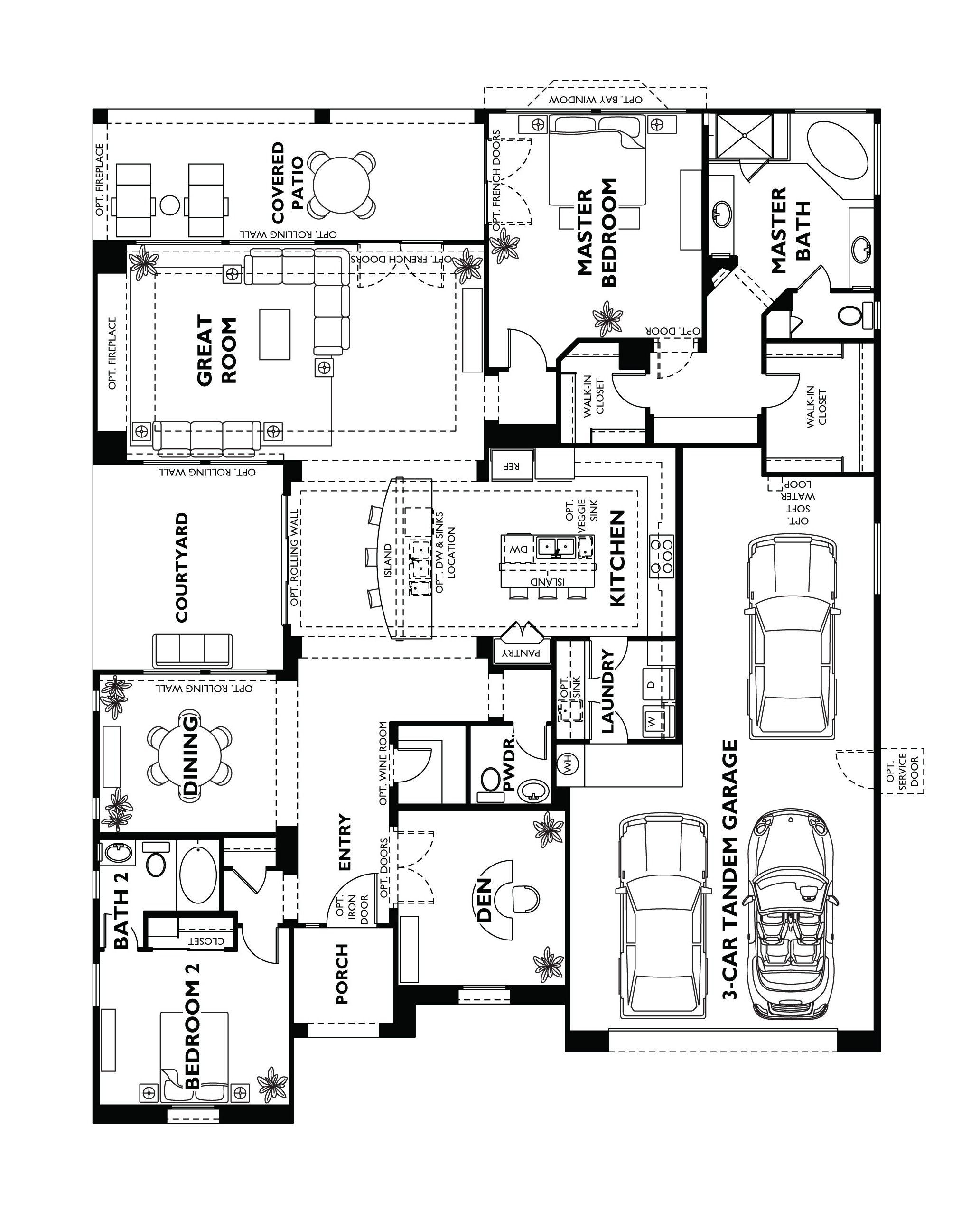 Trilogy At Vistancia Tarragona Floor Plan Shea Trilogy Vistancia Home House Floor Plans Model Homes Floorpl Floor Plans House Floor Plans Mountain House Plans