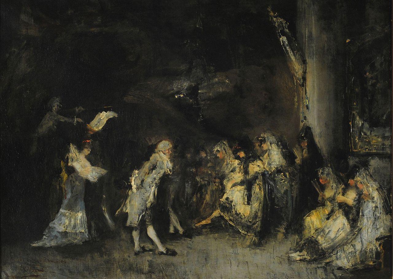 José Villegas y Cordero: El Minue - 1868  National Museum of Fine Arts in Buenos Aires