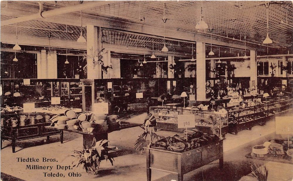 A66/ Toledo Ohio Postcard 1911 Tiedtke Bros Millinery