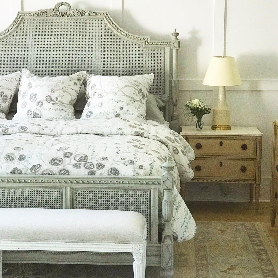 Beauvier French Cane Bed Cane bed, Bed, Interior design