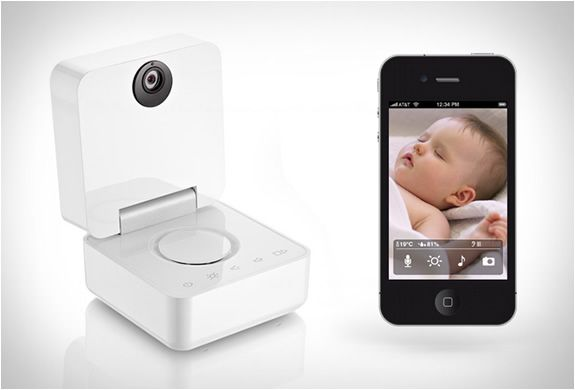 The Smart Baby Monitor by Withings is a stylish iphone/ipad connected monitor.