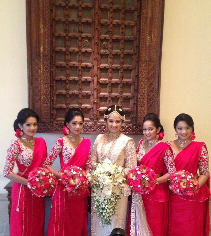 Wedding Hairstyle In Sri Lanka: Pin By ChrishY On Sri Lankan Bridesmaids