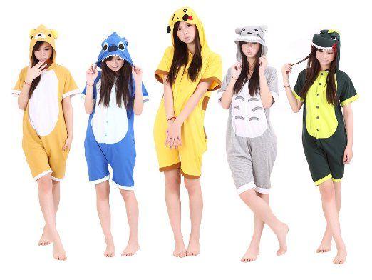 Amazon.com: UUstar® Summer Unisex Japanese Animal Cosplay Costume Anime Onesie Romper: Clothing