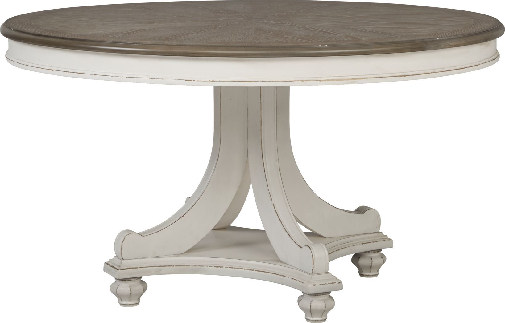 French Market White Round Dining Table White Round Dining Table