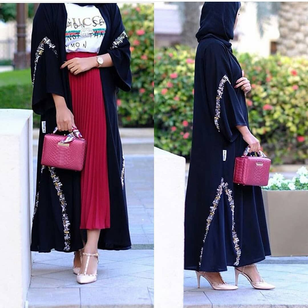 418 Likes 4 Comments Abaya Show Abaya Show On Instagram عجبنی تطریز حلو شرایکم Kam 227 Abaya Fashion Abaya Designs Hijab Fashion Inspiration