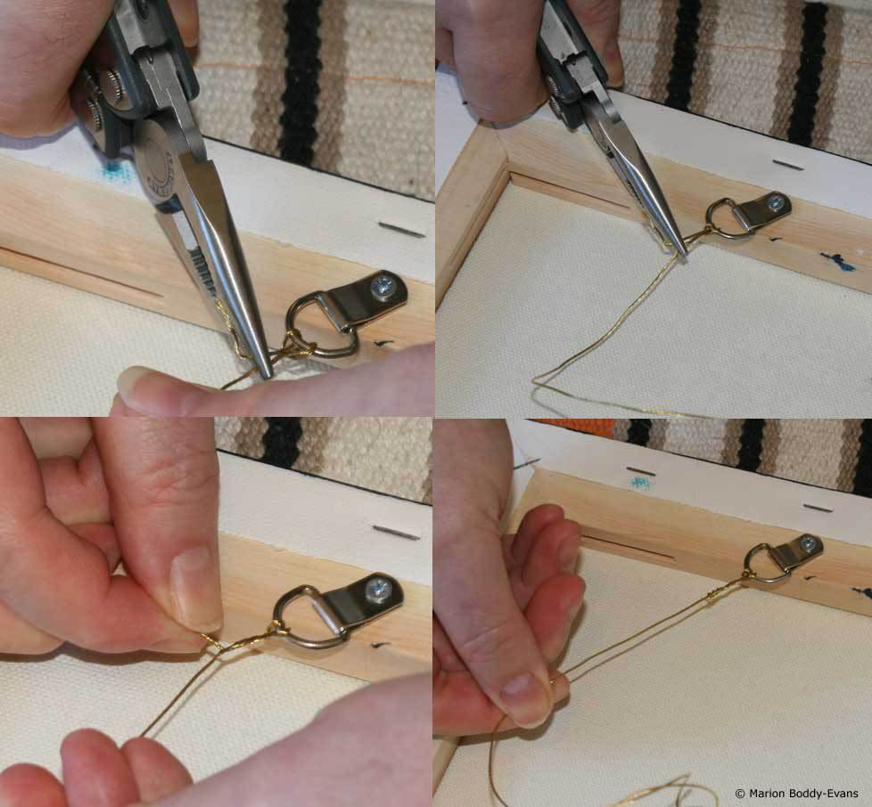 How To Use Wire To Hang A Piece Of Art Hanging Paintings