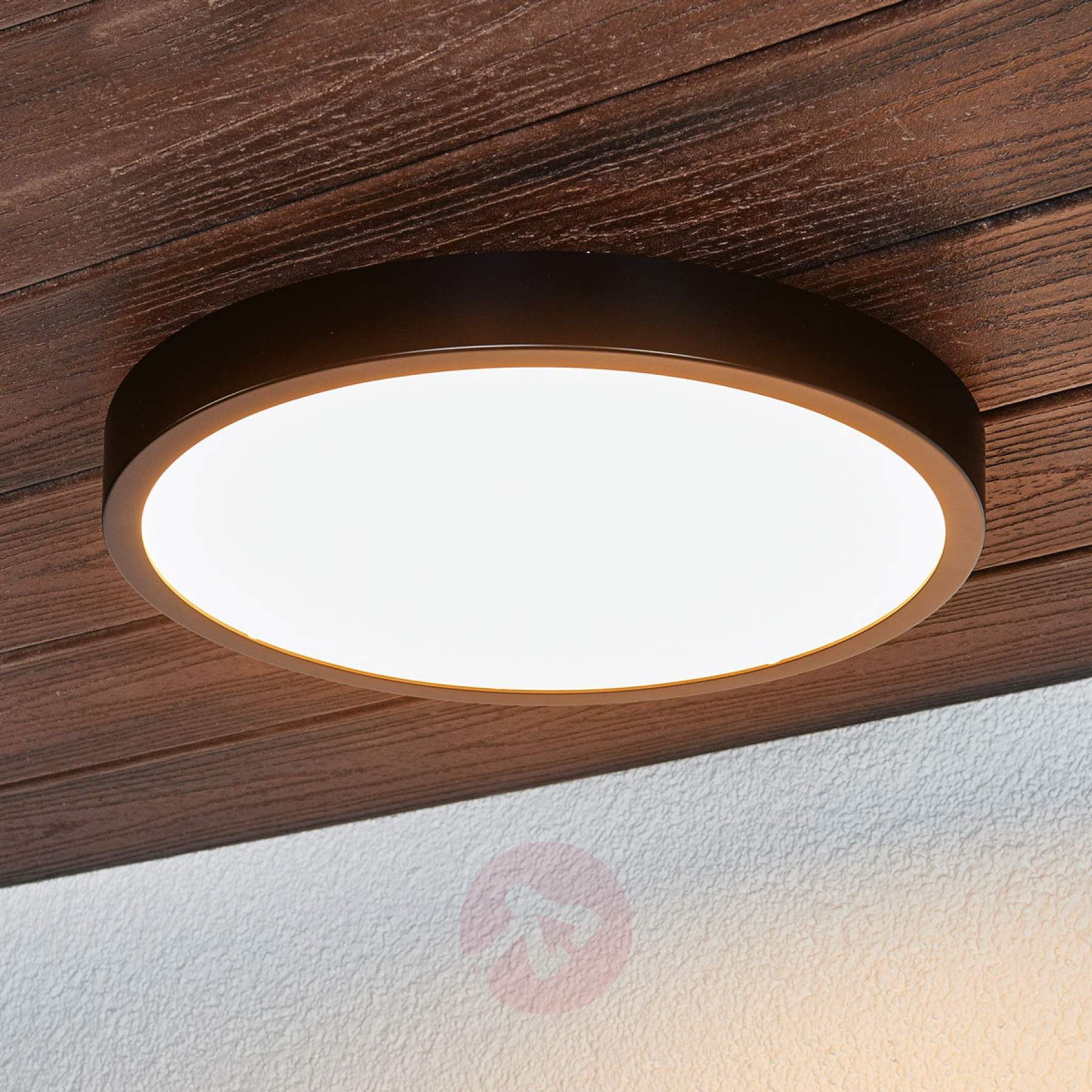 Zwarte Led Plafondlamp Liyan Ip54 Plafondlamp