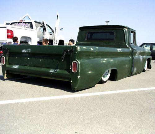 Slammed Green Chevrolet C10 Truck