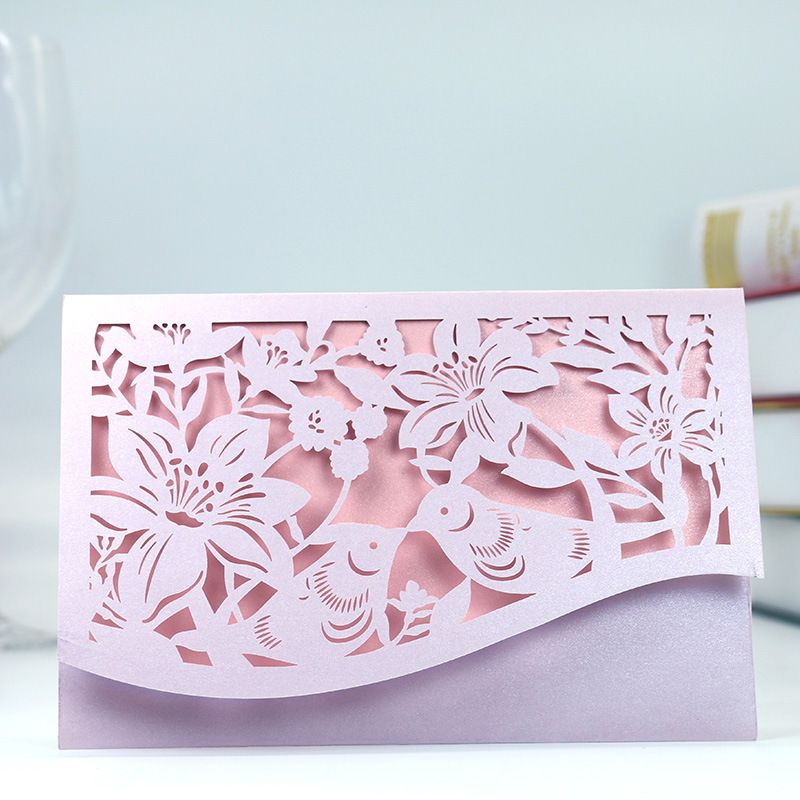1pcs Laser Cut Romantic Wedding Party Event Invitation Card Business - invitation card decoration
