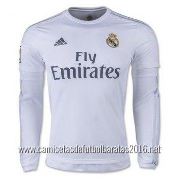 Camiseta de fútbol baratas manga larga Real Madrid 2016 1ª equipación €21.99