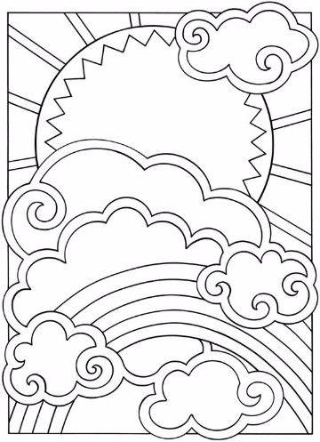 Animadas Imagenes De Nubes Para Colorear E Imprimir Dibujos