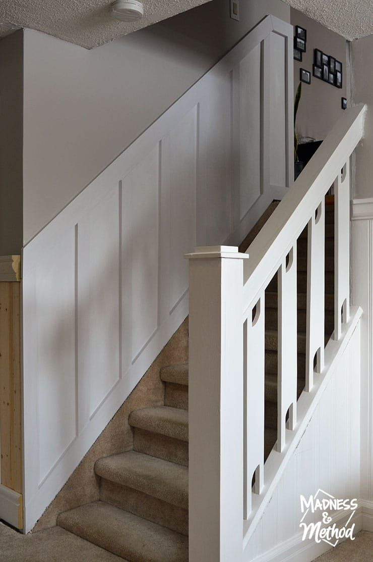 Diy Board Batten Staircase Madness Method Diy Staircase Board And Batten Stairs In Living Room