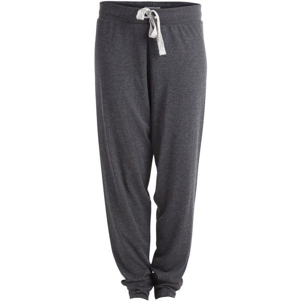 PIECES Sweat Pants (€17) ❤ liked on Polyvore featuring activewear, activewear pants, pants, bottoms, sweatpants, pajamas, sweats, dark grey melange, sweat pants and dark grey sweatpants