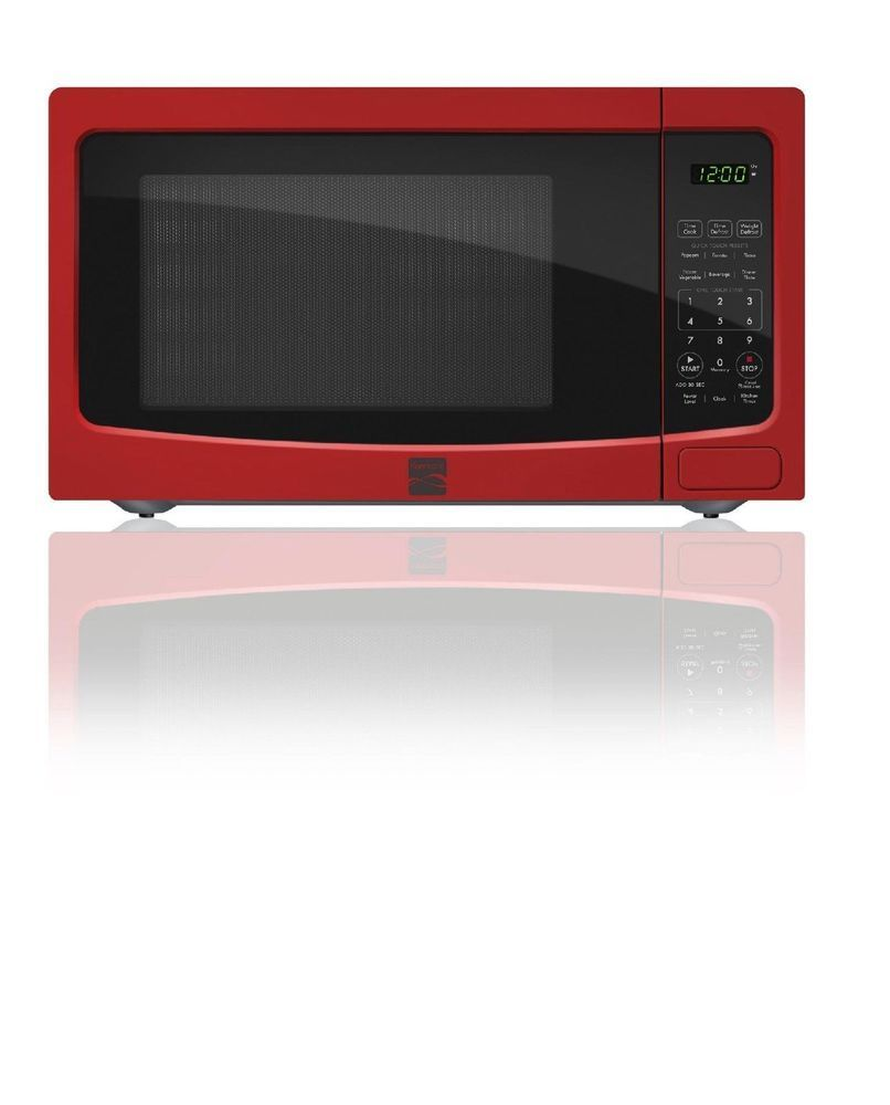 Kenmore 1 1 Cu Ft Countertop Microwave Oven Red 73116 Kenmore