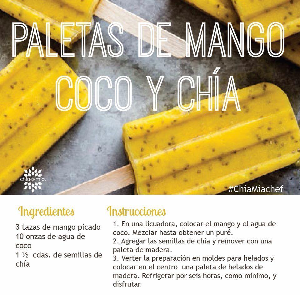 Paletas de mango y chia