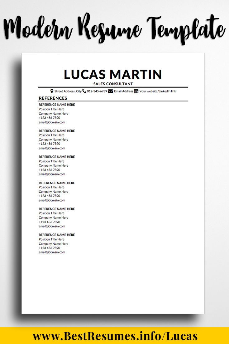 rn resume reference page