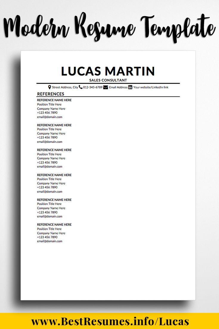 modern resume template lucas martin